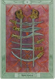 Восьмёрка мечей Вмешательство Таро Тота Алистер Кроули